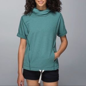 Lululemon Serenity Hoodie Sz 6 Green Short Sleeve